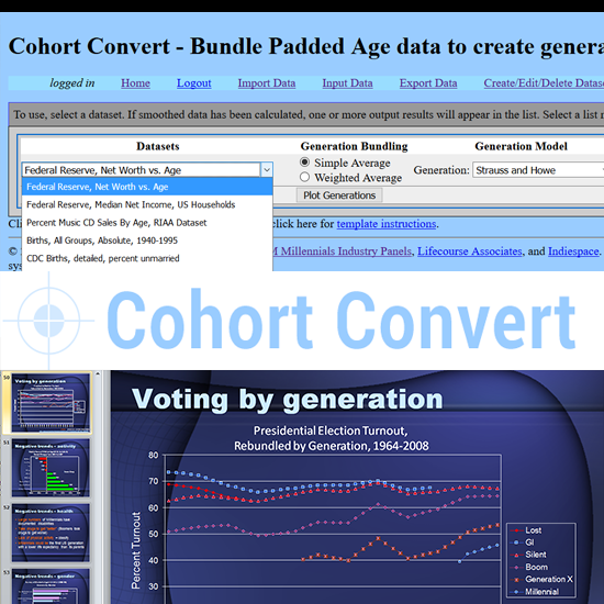 Cohort Convert, a generation analysis tool screenshots